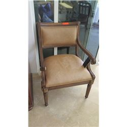 Sheraton Style Carved Wooden Upholstered Chair