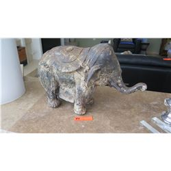 "Cast Metal Elephant, Approx 13"" Tall"