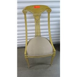 Carved Yellow Wooden Chair