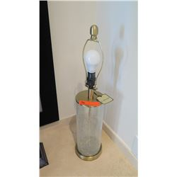 """J. Hunt Glass Cylinder Table Lamp, Approx. 25.5"""" H"""