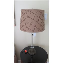 """Table Lamp w/ Clear """"Candlestick"""" Base"""