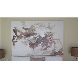 """Large Abstract """"Marble"""" Painting on Canvas"""