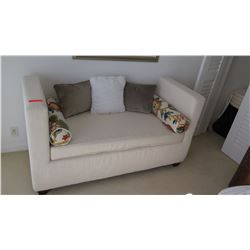 Upholstered White Window Seat (pillows not included)