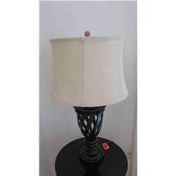 """Table Lamp w/ Bronzed Metal Base, Approx. 27"""" H"""