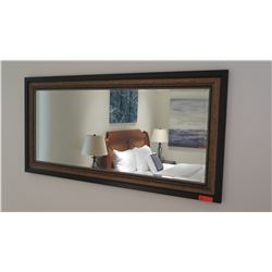 "Dark & Light Framed Mirror, Approx. 67.5"" X 32.5"""