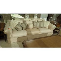 Large Ivory Tone Sofa (accent pillows not included)