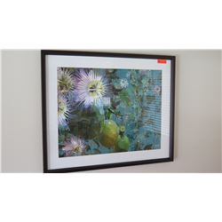 Framed Print, Lilikoi (Passion Flower) by Kaypee Soh, Signed, 44x36