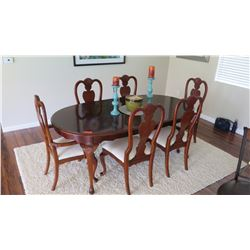 """Oval Dining Room Table w/ 6 Chairs, 78"""" X 42"""""""