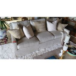Tan Sofa (accent pillows not included)