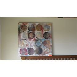 Abstract Painting on Stretched Canvas (Circles)