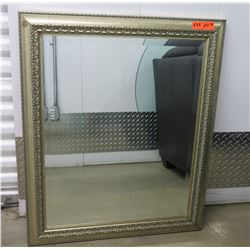 """Mirror in Decorative Gold-Toned Frame, 29"""" X 36"""""""