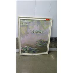 """Framed Impressionist Painting, Lilly Pond, Signed by Artist, 28""""X34"""""""