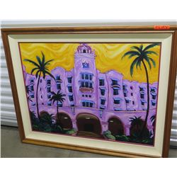 """""""Pink Lady"""" Painting, Giclee on Canvas (Ltd. Ed. 6 of 275) 48""""X39"""" Frame Size"""