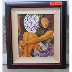 Girl Sitting by Window, Giclee on Canvas, 18X20 Signed Ltd. Ed. 1 of 750 (or 1 of 950?)