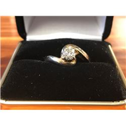 LADIES 14K YELLOW GOLD DIAMOND SOLITAIRE RING (0.44CTS DIAMOND/4.2GMS GOLD)