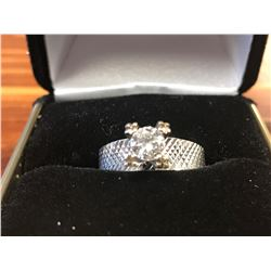 LADIES 18K WHITE GOLD DIAMOND SOLITAIRE RING (0.58CTS DIAMONDS/3.8GMS GOLD)