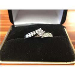 LADIES 14K WHITE GOLD RING CONTAINING 11 DIAMONDS (0.46CTS DIAMONDS/3.7GMS GOLD)