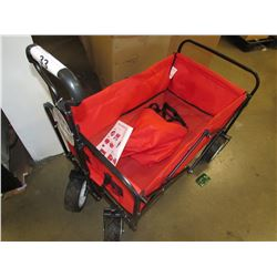 RED BEACH WAGON FOLDABLE CART