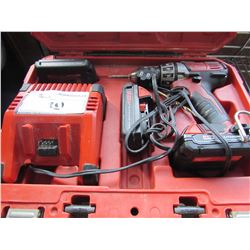 MILWAUKEE CORDLESS DRILL WITH CHARGER & 3 BATTERIES