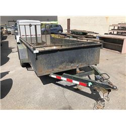 2005 HITCHMAN 14X6FT BOX 18FT TO TONGUE DUAL AXEL DECK TRAILER WITH BEAVER TAIL VIN #