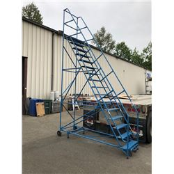 BLUE METAL PORTABLE 16FT WAREHOUSE STAIRS