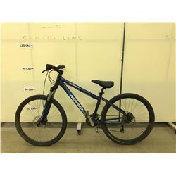 BLUE NORCO BUSHPILOT 24 SPEED FRONT SUSPENSION MOUNTAIN BIKE WITH FULL DISC BRAKES
