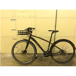 BROWN SPECIALIZED CROSSTRAIL HYBRID MOUNTAIN BIKE WITH FRONT AND REAR HYDRAULIC DISC BRAKES