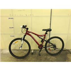 RED CCM VANDAL 26 FULL SUSPENSION MOUNTAIN BIKE