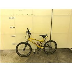 YELLOW INFINITY BANDITO KIDS MOUNTAIN BIKE