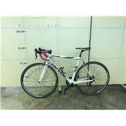 WHITE CERVELO R3 20 SPEED RACE BIKE WITH CLIP PEDALS