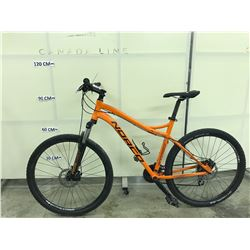 ORANGE NORCO STORM 24 SPEED FRONT SUSPENSION MOUNTAIN BIKE WITH FRONT AND REAR DISC BRAKES