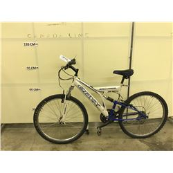 WHITE ORYX FULL SUSPENSION MOUNTAIN BIKE