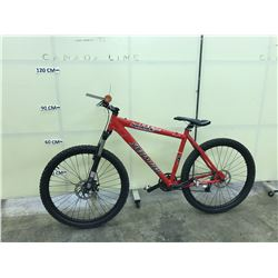 RED SPECIALIZED HARDROCK SPORT FRONT SUSPENSION MOUNTAIN BIKE WITH FRONT DISC BRAKES, GEARS ARFE