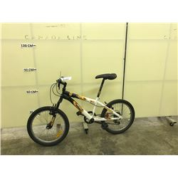 BLACK AND WHITE ROSS PUSH KIDS MOUNTAIN BIKE