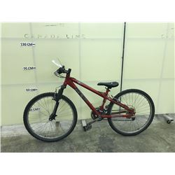 RED MIELE 18 SPEED FRONT SUSPENSION MOUNTAIN BIKE