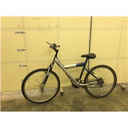 GREY NO NAME 18 SPEED FRONT SUSPENSION MOUNTAIN BIKE