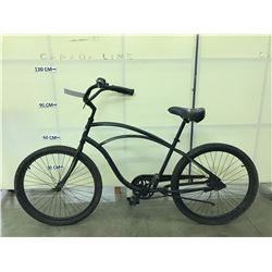 BLACK ELECTRA SINGLE SPEED CRUISER BIKE