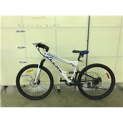 WHITE CCM APEX 24 SPEED FULL SUSPENSION MOUNTAIN BIKE WITH FRONT AND REAR DISC BRAKES