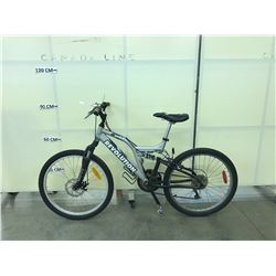 GREY REVOLUTION REBOUND FULL SUSPENSION MOUNTAIN BIKE WITH FRONT DISC BRAKE