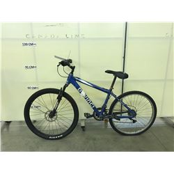 BLUE DEVINCI DESPERADO 21SPEED FRONT SUSPENSION MOUNTAIN BIKE, NO BRAKES