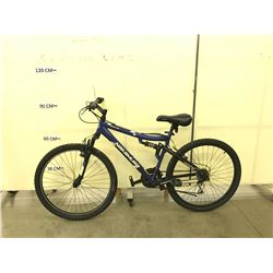 BLUE NAKAMURA MONSTER FOUR 21 SPEED FULL SUSPENSION  MOUNTAIN BIKE
