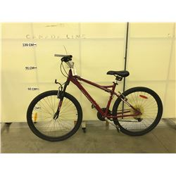 RED INFINITY MERIDAN.ONE 21 SPEED FRONT SUSPENSION MOUNTAIN BIKE