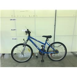 BLUE SPORTEK ARTISTRY 18 SPEED FRONT SUSPENSION MOUNTAIN BIKE
