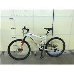 WHITE CCM STATIC 26 21 SPEED FULL SUSPENSION MOUNTAIN BIKE