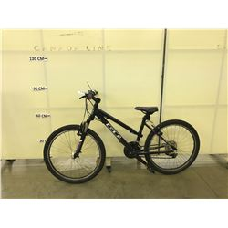 BLACK GT 18 SPEED KIDS FRONT SUSPENSION MOUNTAIN BIKE