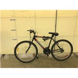 BLACK SUPERCYCLE SC1800 18 SPEED MOUNTAIN BIKE