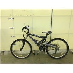 GREY AND BLUE INFINITY VORTEX 21 SPEED FULL SUSPENSION MOUNTAIN BIKE