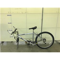 GREY FILA INCLINE 18 SPEED FULL SUSPENSION  MOUNTAIN BIKE MISSING FRONT WHEEL