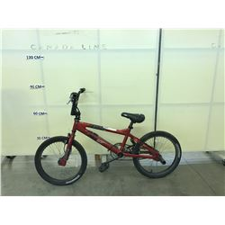 RED XGAMES LAUNCH BMX BIKE WITH 2 PEGS AND GYRO