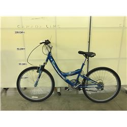 BLUE ROADMASTER MT. SPORT GX 18 SPEED FRONT SUSPENSION TRAIL BIKE